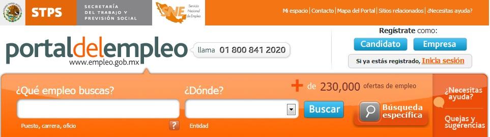 Portal del Empleo en Mexico